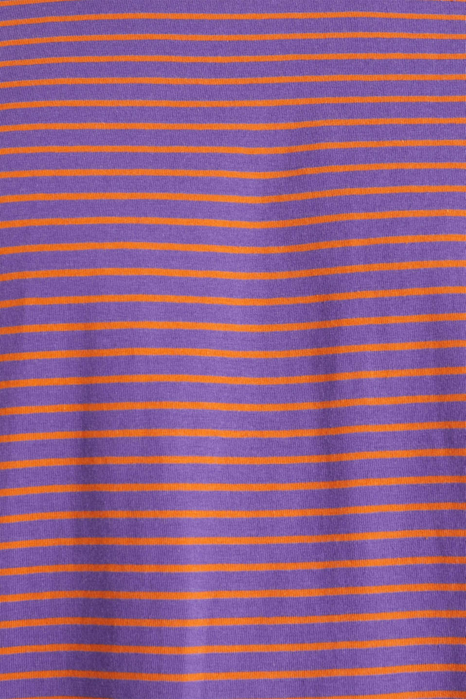 Jersey T-shirt with stripes, 100% cotton, PURPLE 3, detail image number 4