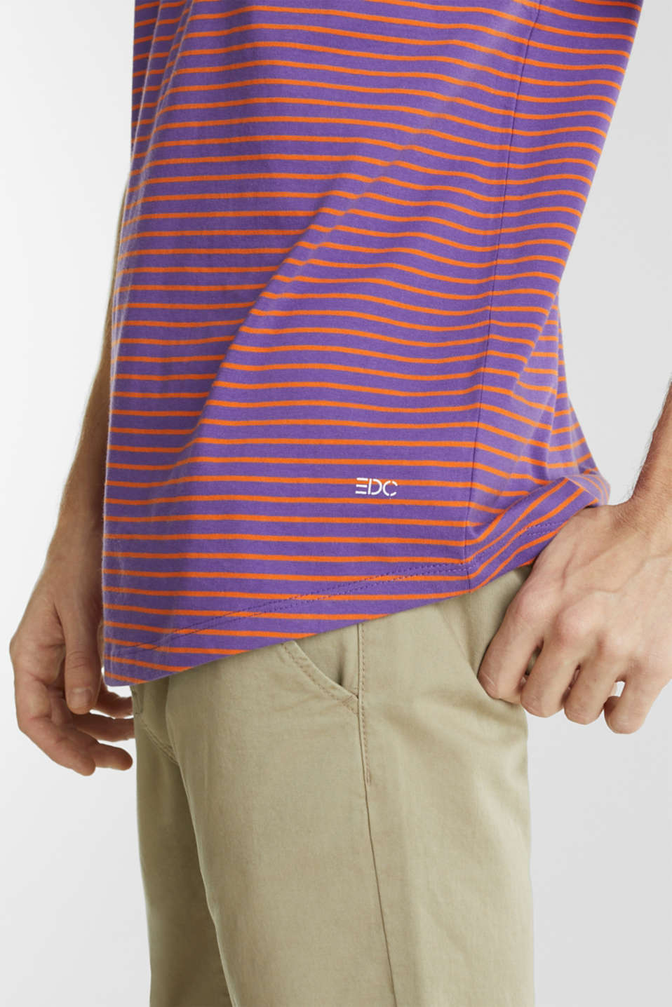 Jersey T-shirt with stripes, 100% cotton, PURPLE 3, detail image number 5