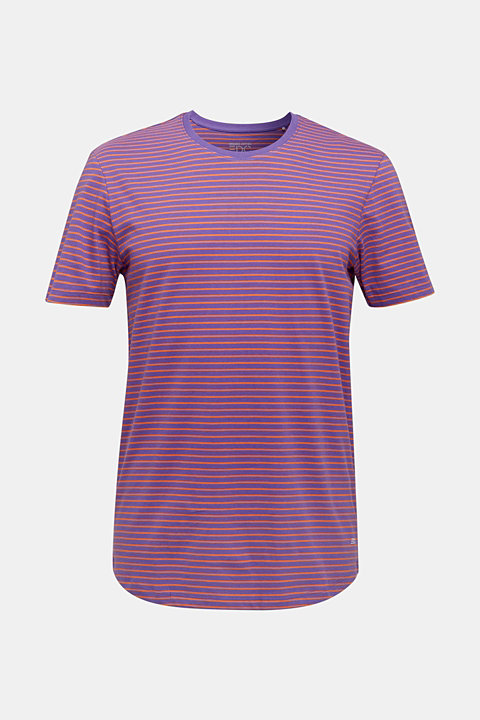Jersey T-shirt with stripes, 100% cotton