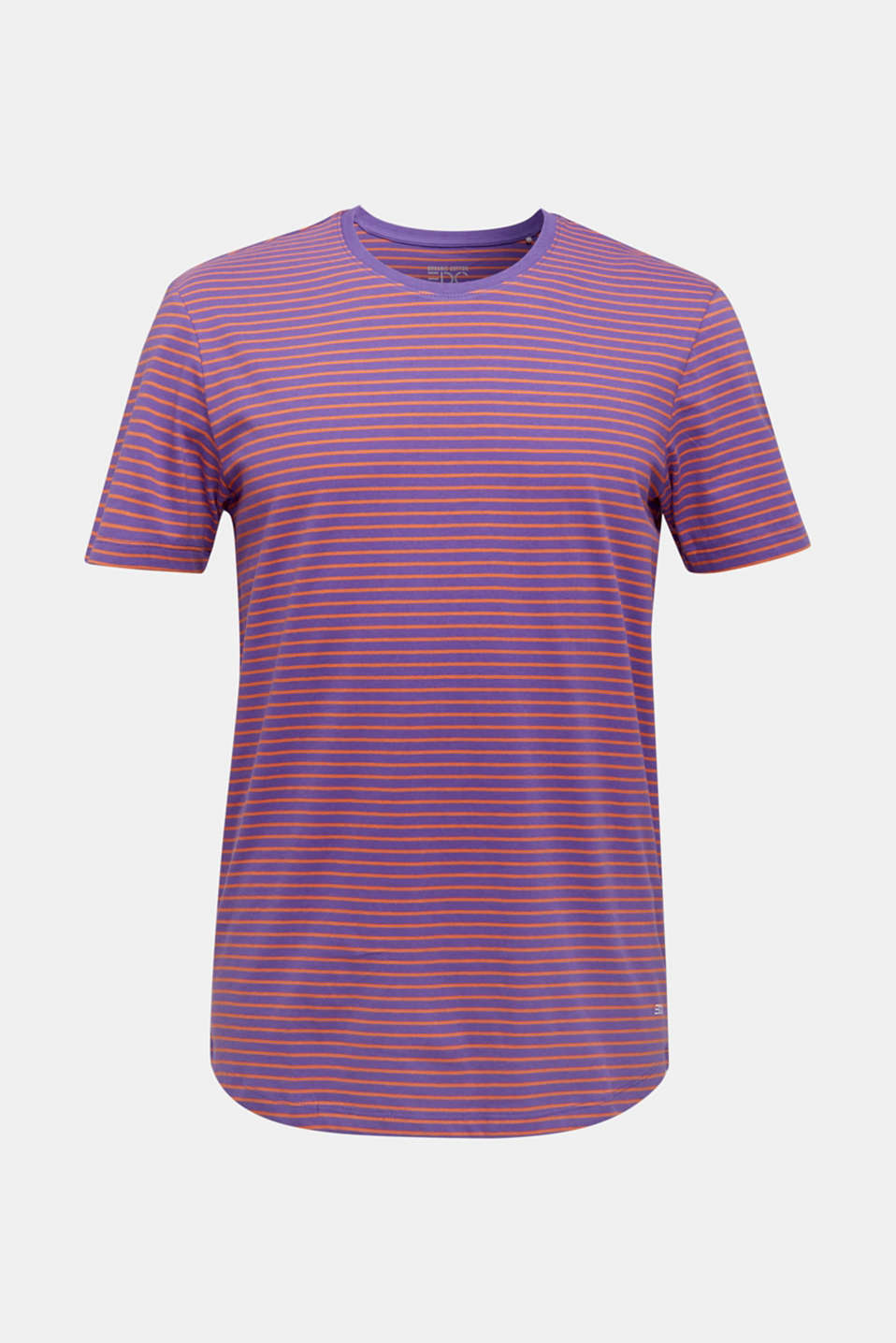 Jersey T-shirt with stripes, 100% cotton, PURPLE 3, detail image number 7