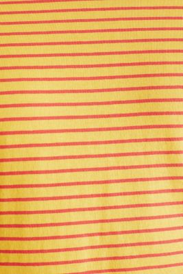 Jersey T-shirt with stripes, 100% cotton, BRASS YELLOW 3, detail