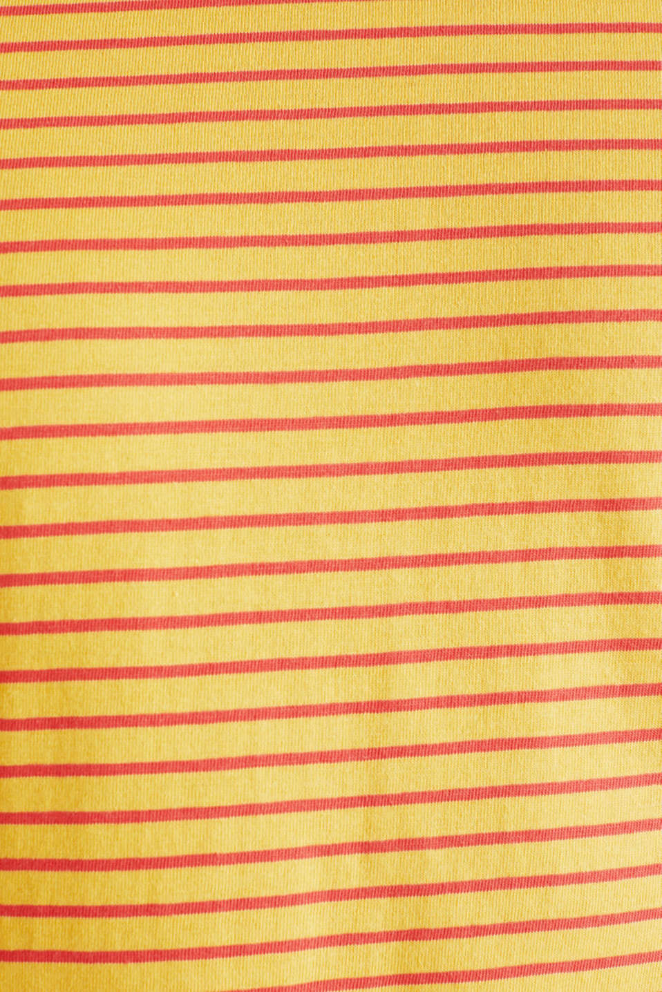 Jersey T-shirt with stripes, 100% cotton, BRASS YELLOW 3, detail image number 5