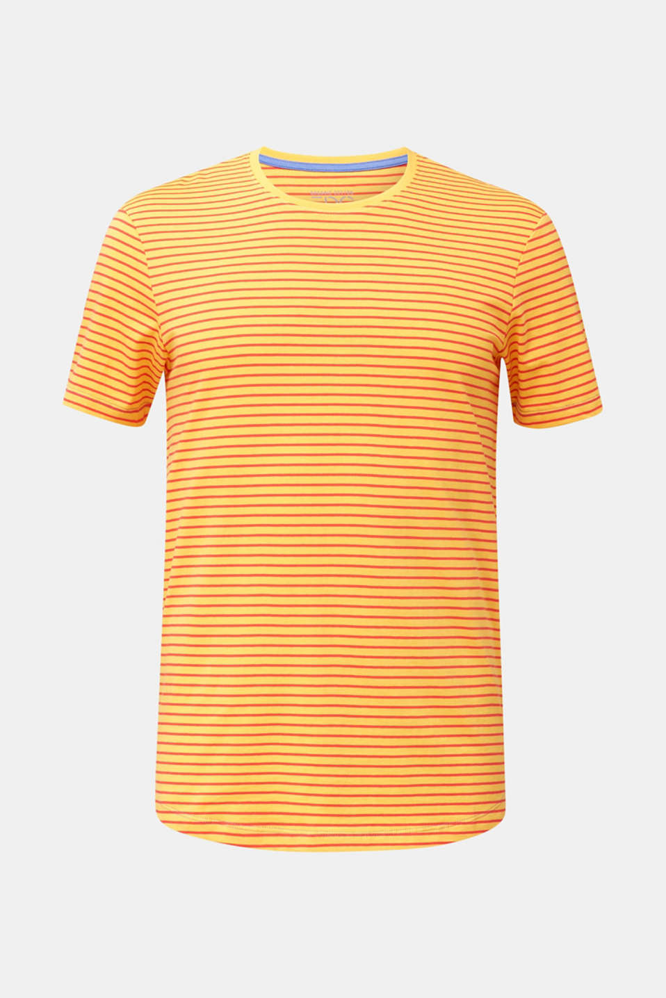 Jersey T-shirt with stripes, 100% cotton, BRASS YELLOW 3, detail image number 8
