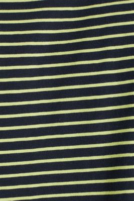 Jersey T-shirt with stripes, 100% cotton, BRIGHT YELLOW 3, detail