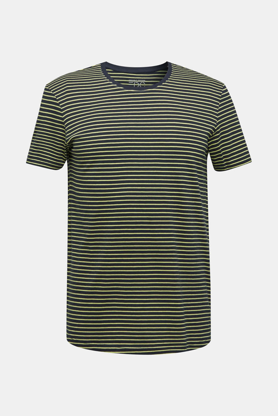 Jersey T-shirt with stripes, 100% cotton, BRIGHT YELLOW 3, detail image number 6