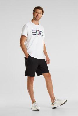 Jersey logo T-shirt, 100% cotton, WHITE, detail
