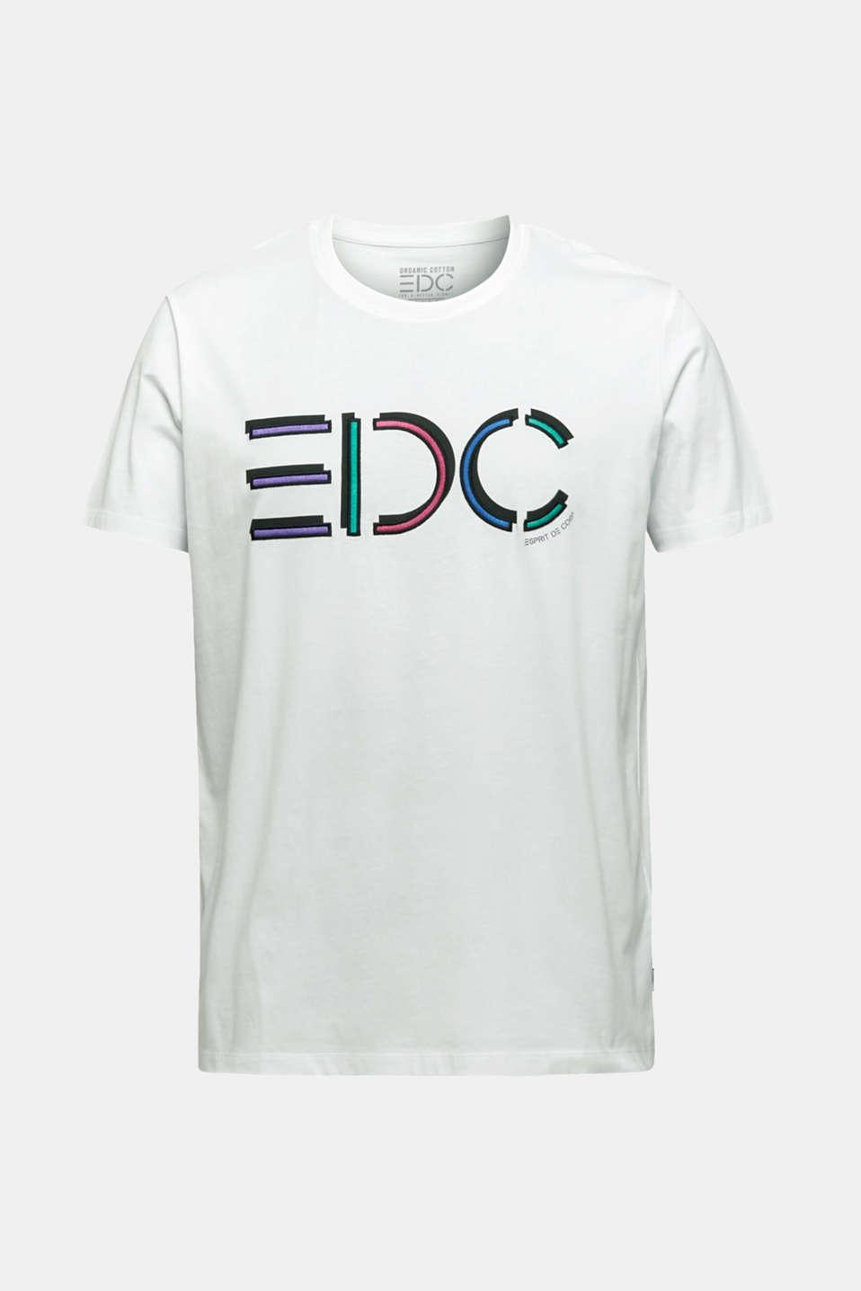 Jersey logo T-shirt, 100% cotton, WHITE, detail image number 6