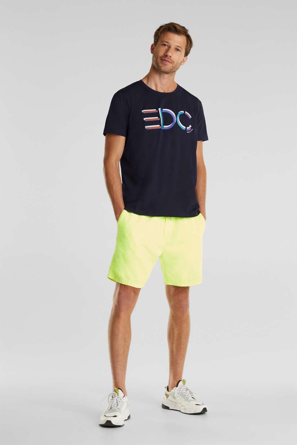 Jersey logo T-shirt, 100% cotton, NAVY, detail image number 2