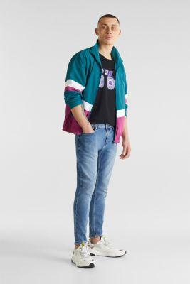 Slub jersey T-shirt in 100% cotton, BLACK, detail