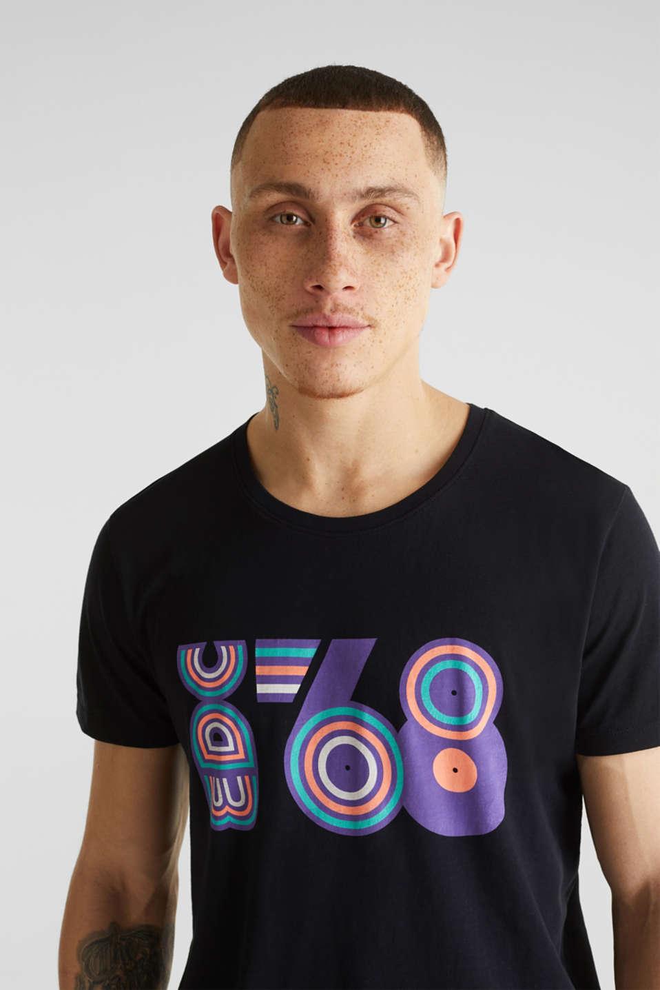 Slub jersey T-shirt in 100% cotton, BLACK, detail image number 4