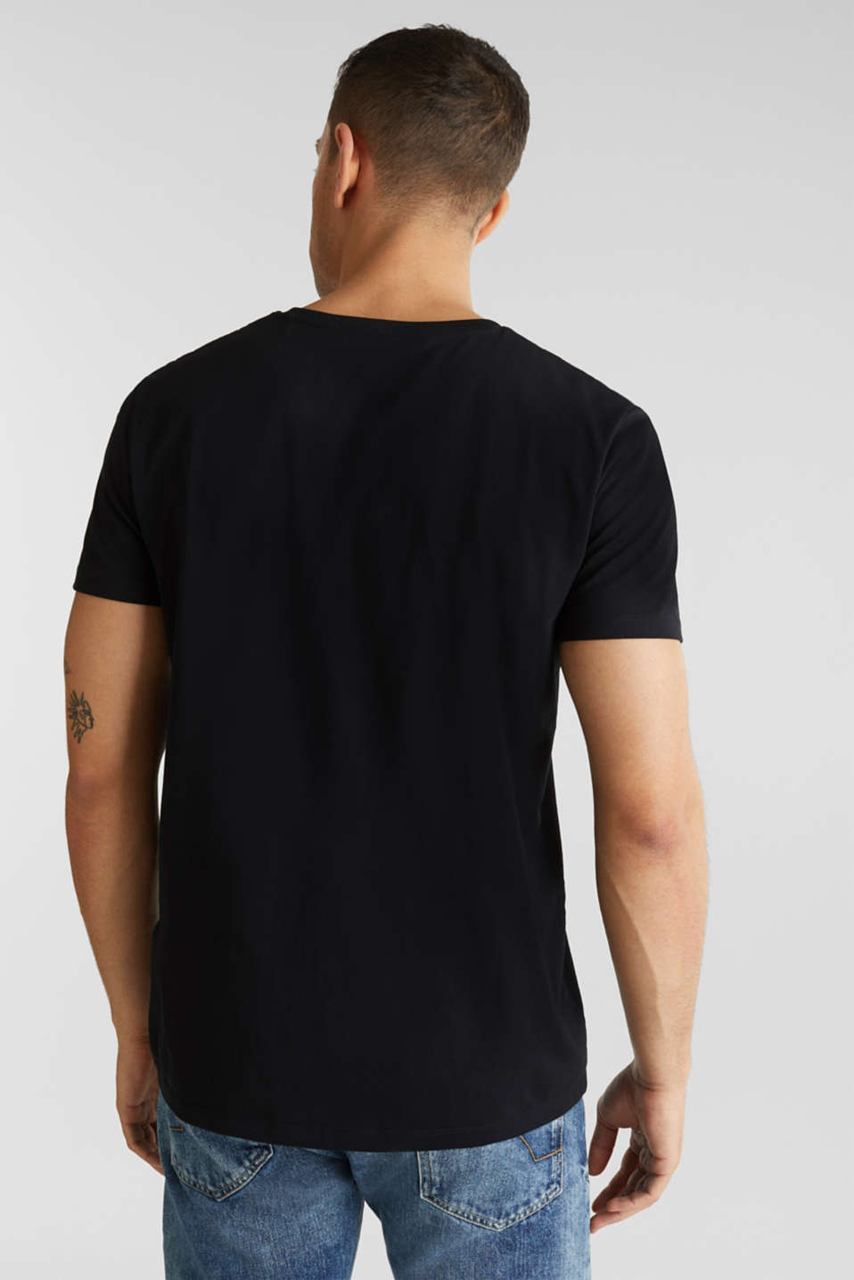 Jersey T-shirt with a print, 100% cotton, BLACK, detail image number 2