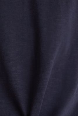 Layered jersey top with a hood, 100% cotton, NAVY 2, detail