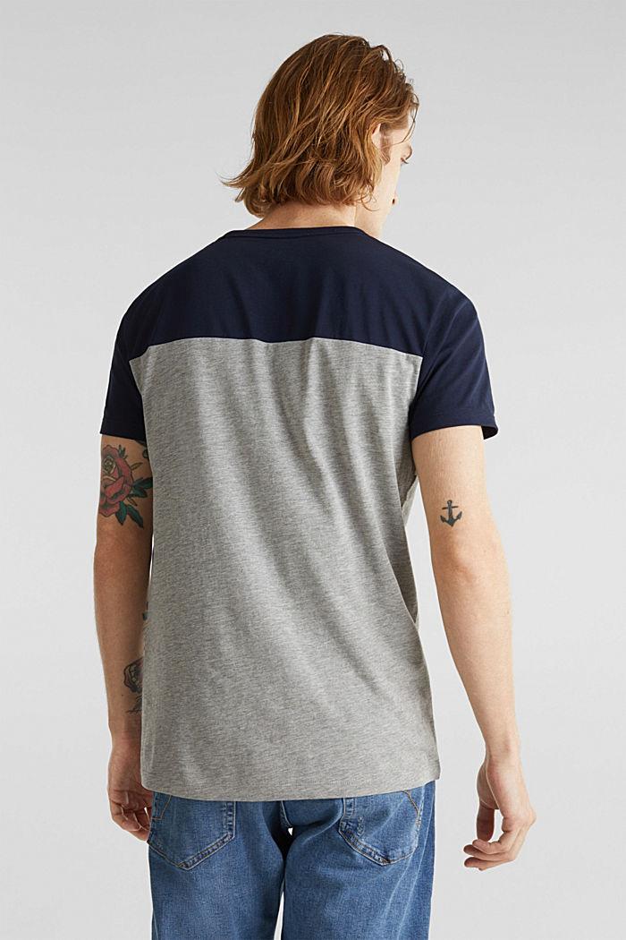 Jersey-Shirt mit Multicolor-Streifen, MEDIUM GREY, detail image number 3