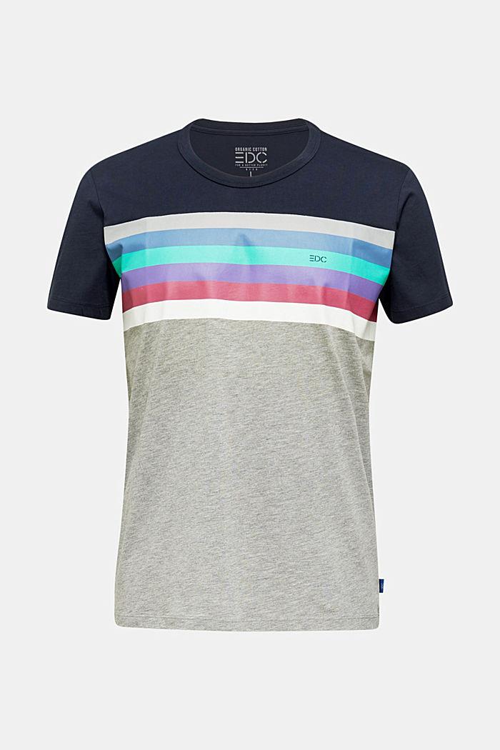 Jerseyshirt med flerfarvede striber, MEDIUM GREY, detail image number 0
