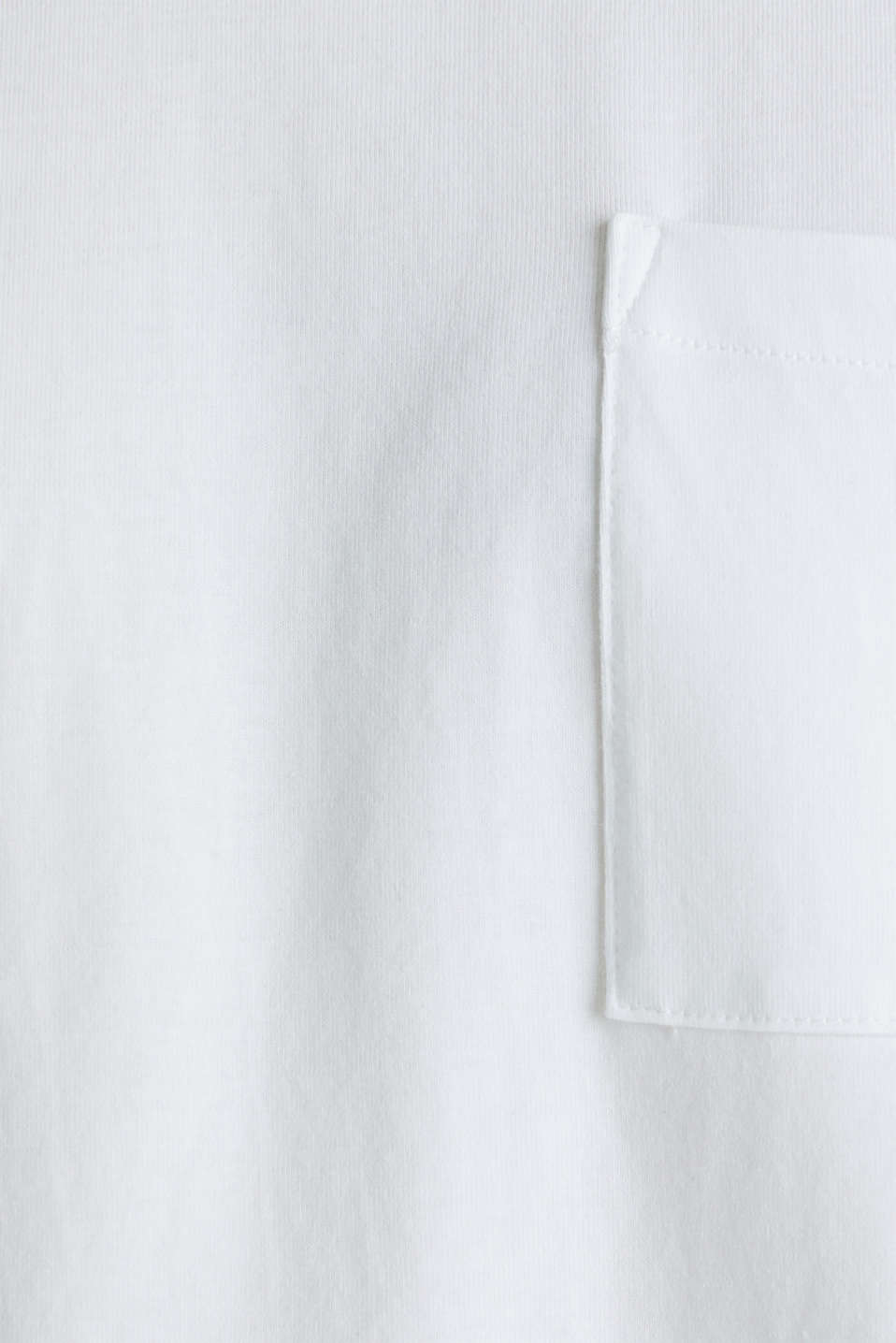 Oversized top in cotton jersey, WHITE, detail image number 4