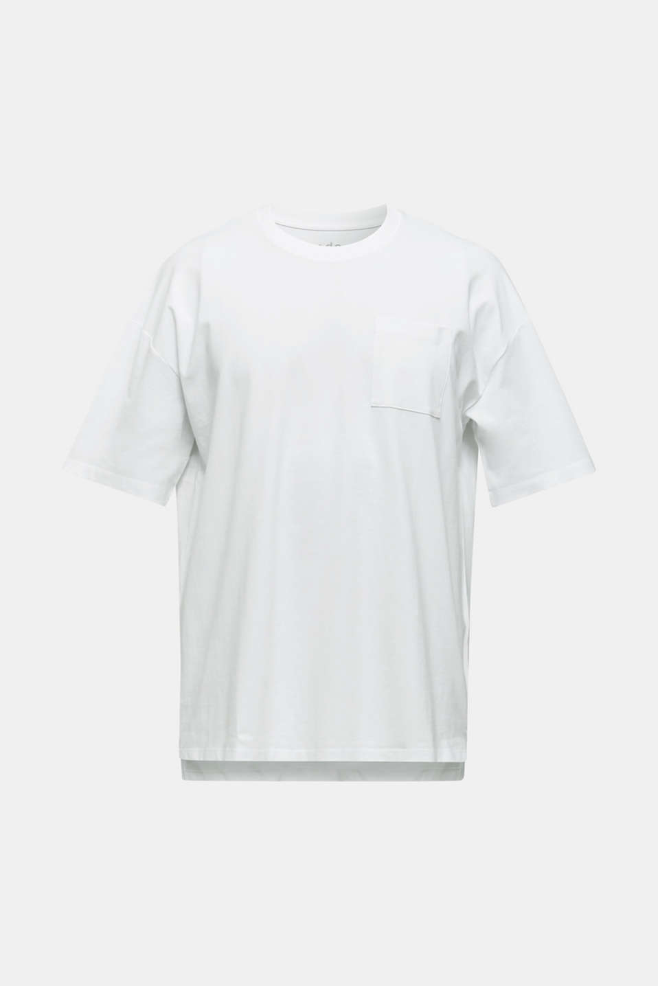 Oversized top in cotton jersey, WHITE, detail image number 6