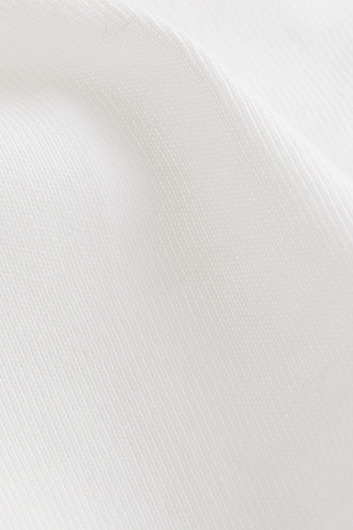 Oversized top in cotton jersey, OFF WHITE, detail image number 5