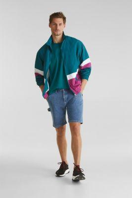 Oversized top in cotton jersey, BOTTLE GREEN, detail