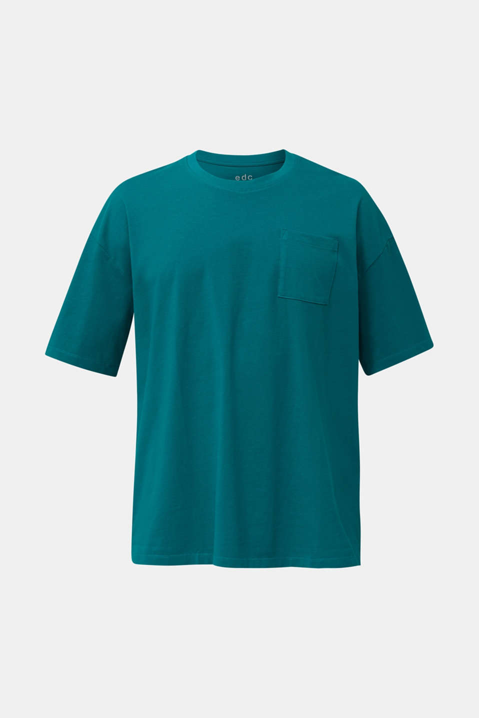 Oversized top in cotton jersey, BOTTLE GREEN, detail image number 8