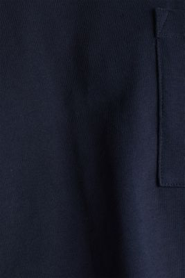 Oversized top in cotton jersey, NAVY, detail