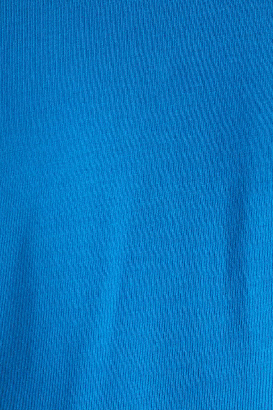 Oversized top in cotton jersey, BLUE, detail image number 5