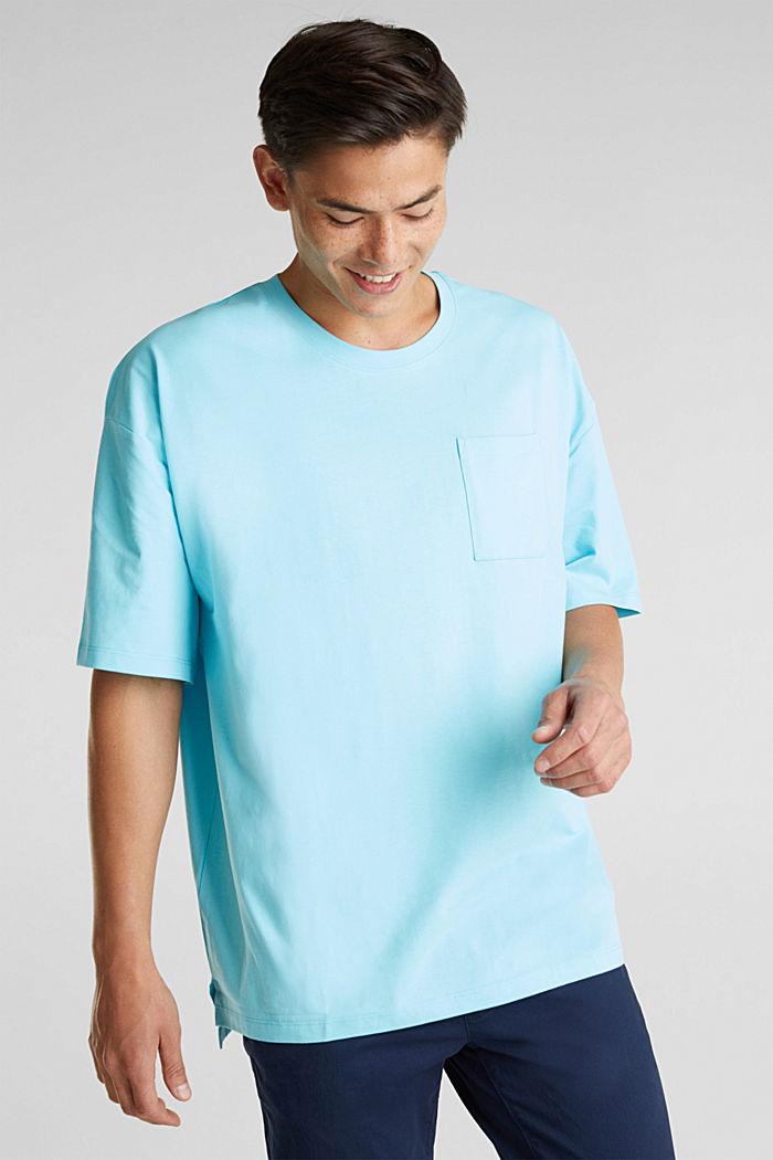 Oversized shirt van katoen-jersey, LIGHT BLUE, detail image number 0