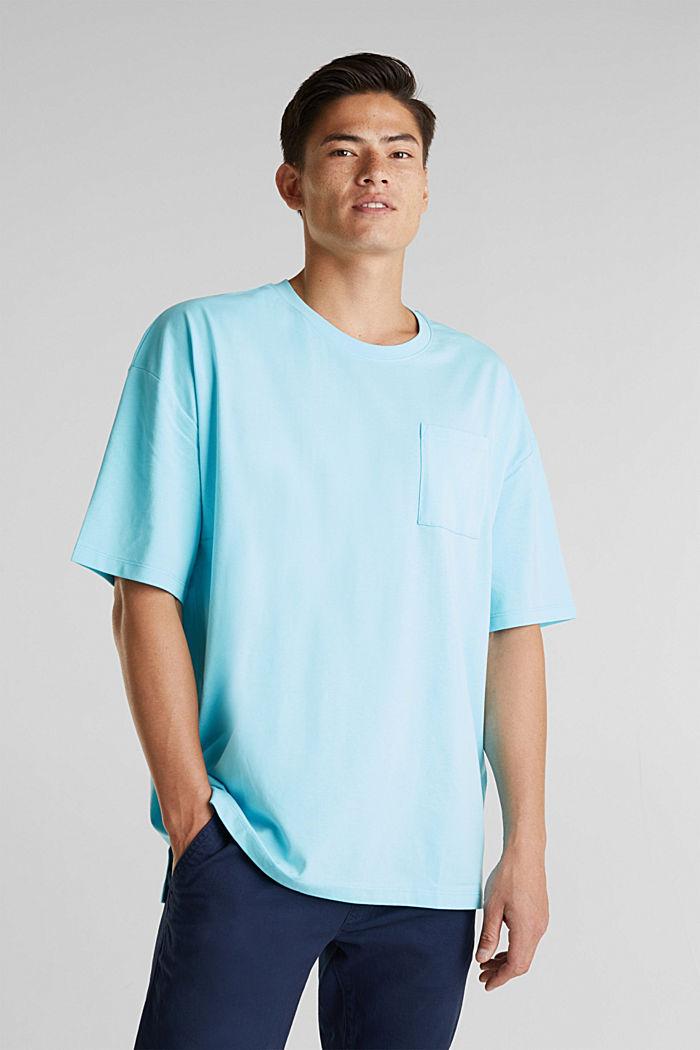 Oversized shirt van katoen-jersey, LIGHT BLUE, detail image number 4