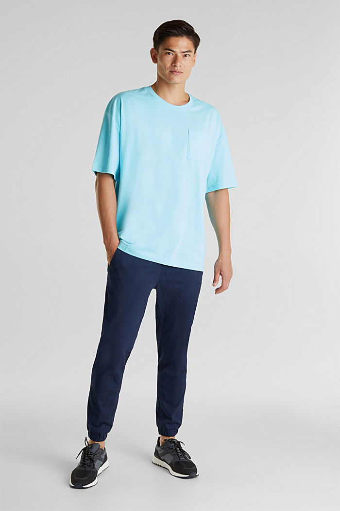 Oversized shirt van katoen-jersey, LIGHT BLUE, detail image number 2