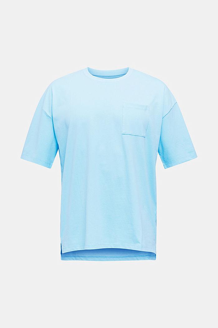 Oversized shirt van katoen-jersey, LIGHT BLUE, detail image number 6