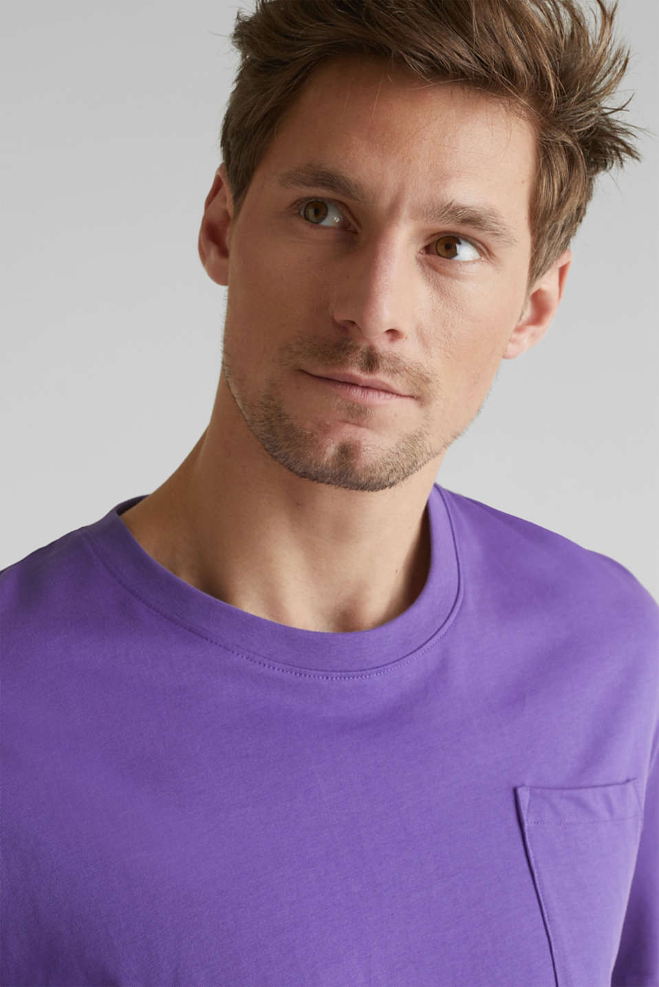 Oversized top in cotton jersey, PURPLE, detail image number 1
