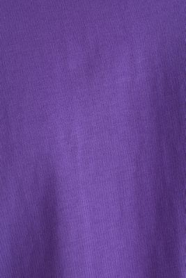 Oversized top in cotton jersey, PURPLE, detail