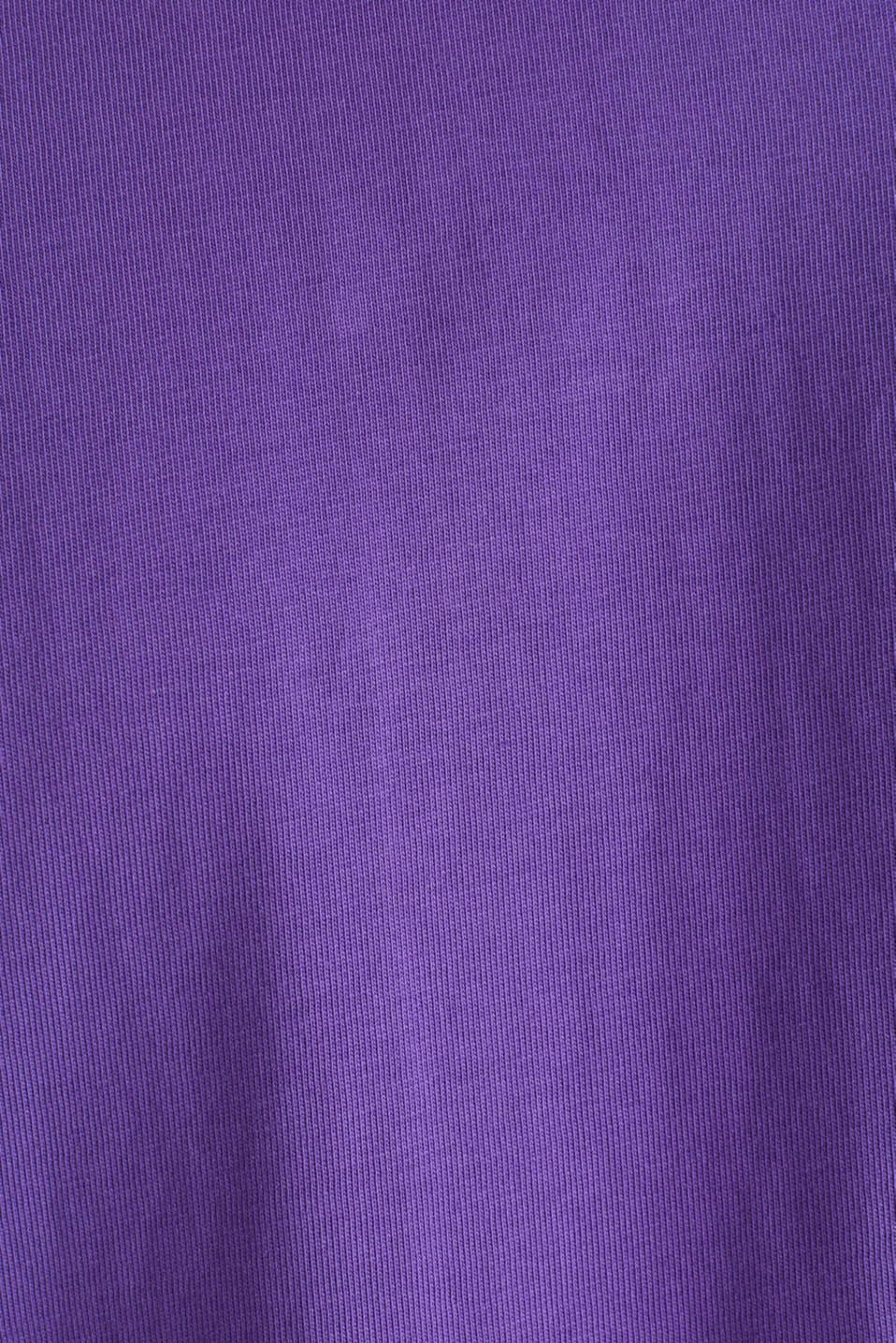 Oversized top in cotton jersey, PURPLE, detail image number 5