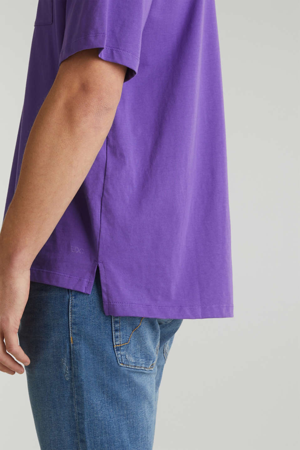 Oversized top in cotton jersey, PURPLE, detail image number 6