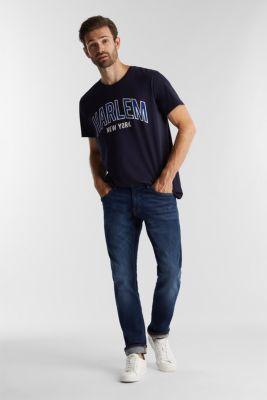 Jersey T-shirt made of 100% organic cotton, NAVY, detail