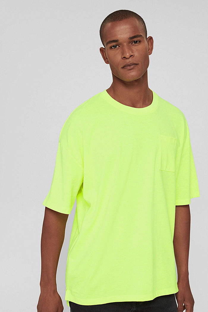T-shirt oversize en jersey de coton, BRIGHT YELLOW, detail image number 0