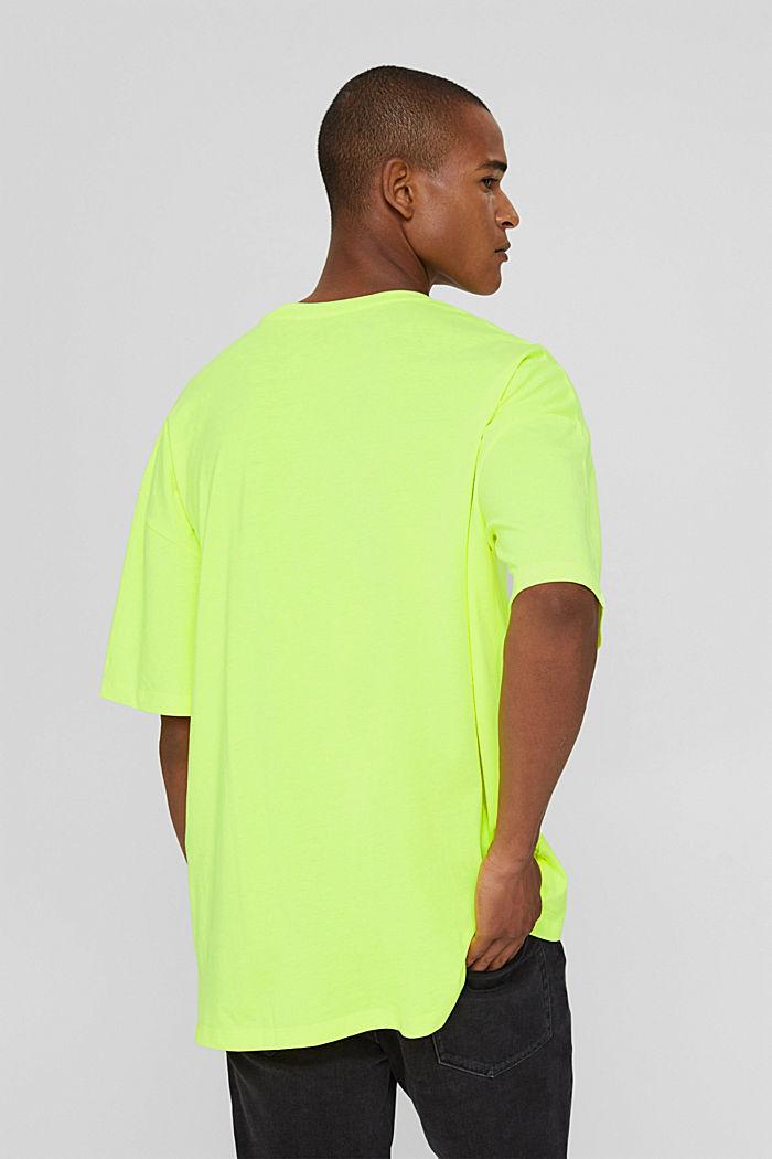 T-shirt oversize en jersey de coton, BRIGHT YELLOW, detail image number 3