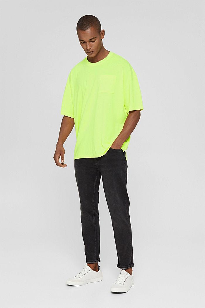 T-shirt oversize en jersey de coton, BRIGHT YELLOW, detail image number 2