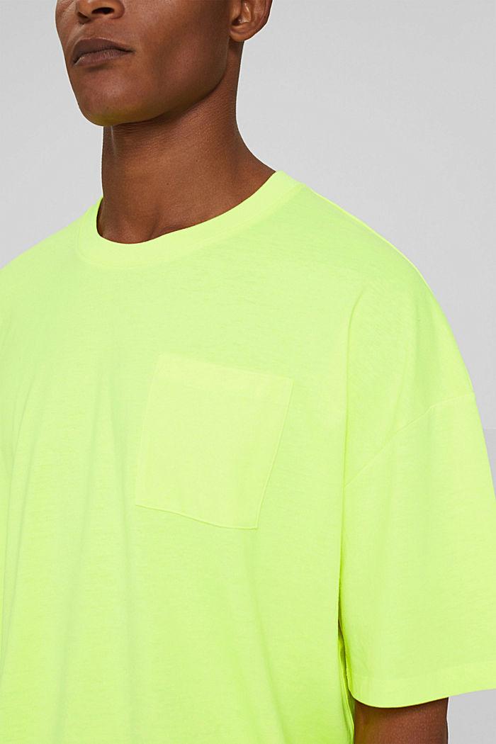 T-shirt oversize en jersey de coton, BRIGHT YELLOW, detail image number 1