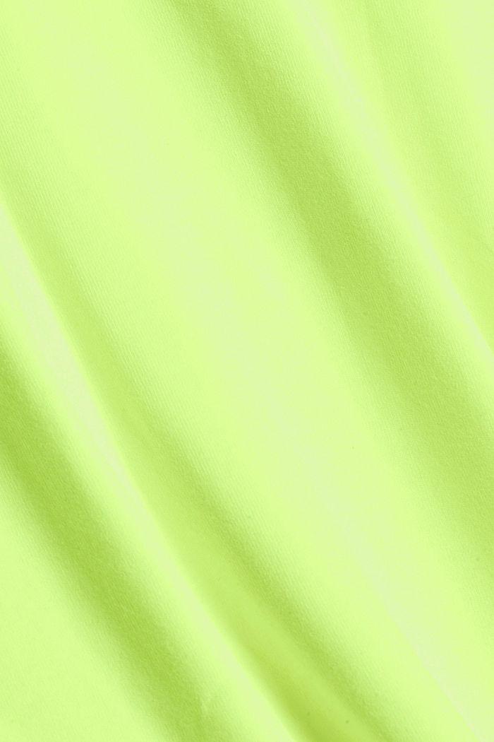 T-shirt oversize en jersey de coton, BRIGHT YELLOW, detail image number 4