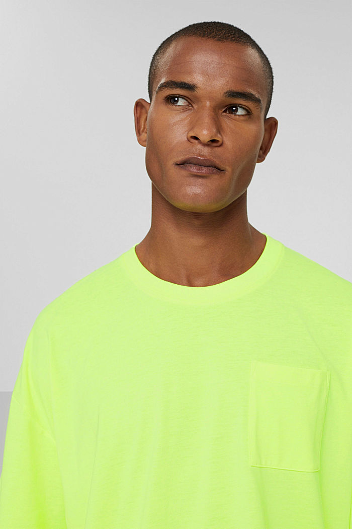 T-shirt oversize en jersey de coton, BRIGHT YELLOW, detail image number 5