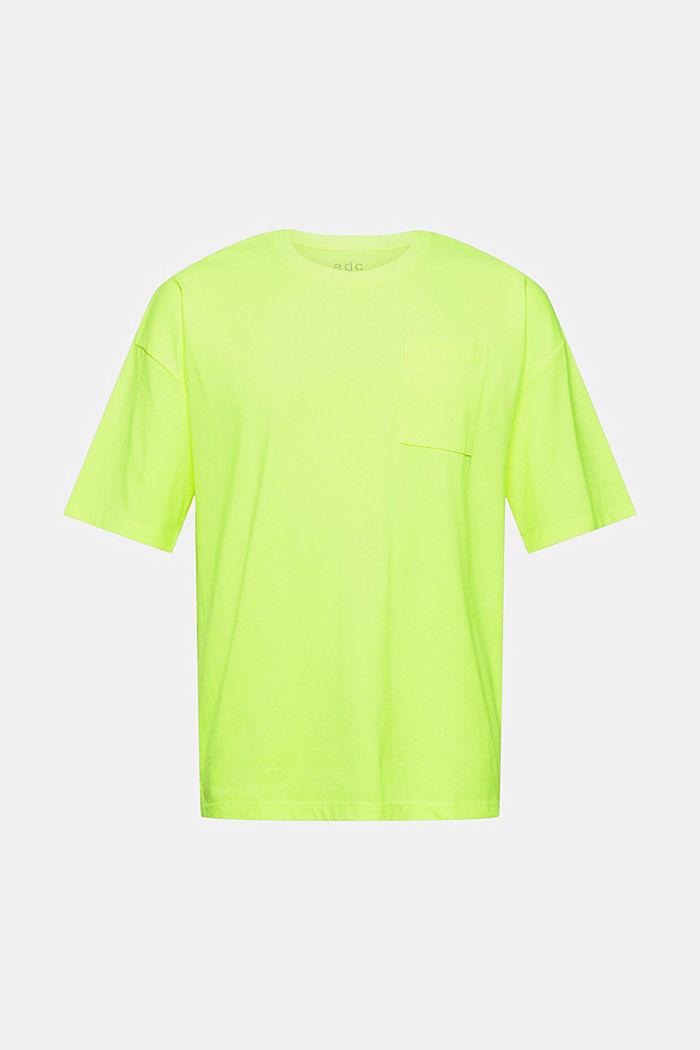T-shirt oversize en jersey de coton, BRIGHT YELLOW, detail image number 6