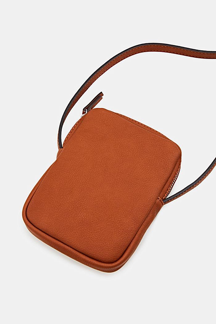 Kleine schoudertas van imitatieleer, RUST BROWN, detail image number 3