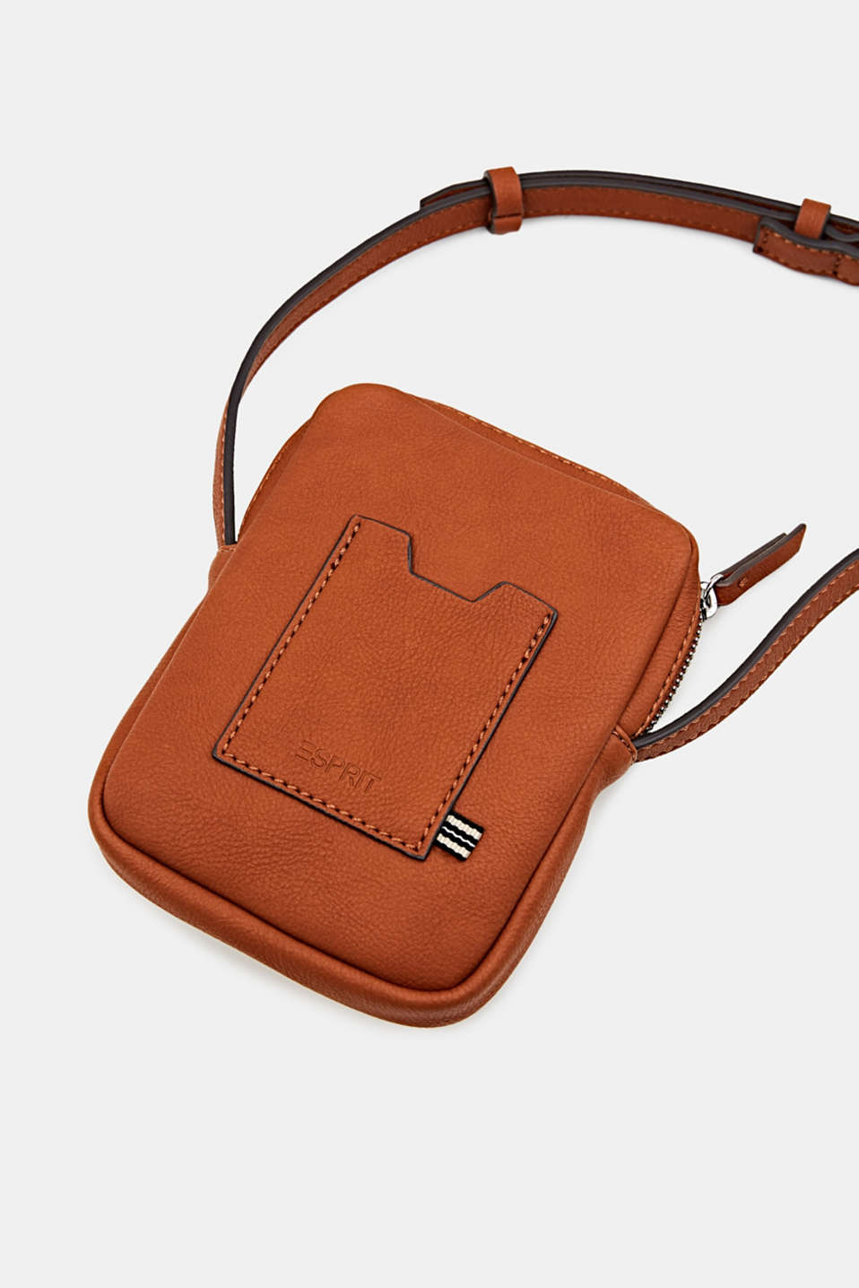 Small faux leather shoulder bag, RUST BROWN, detail image number 4