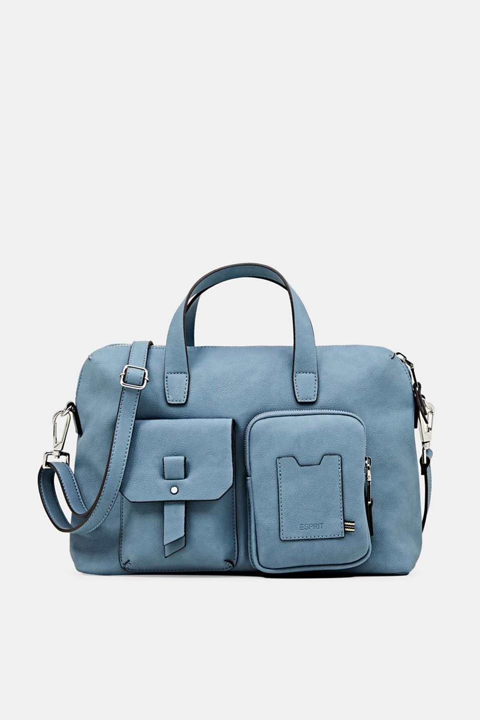 Faux leather handbag, LIGHT BLUE, detail image number 0