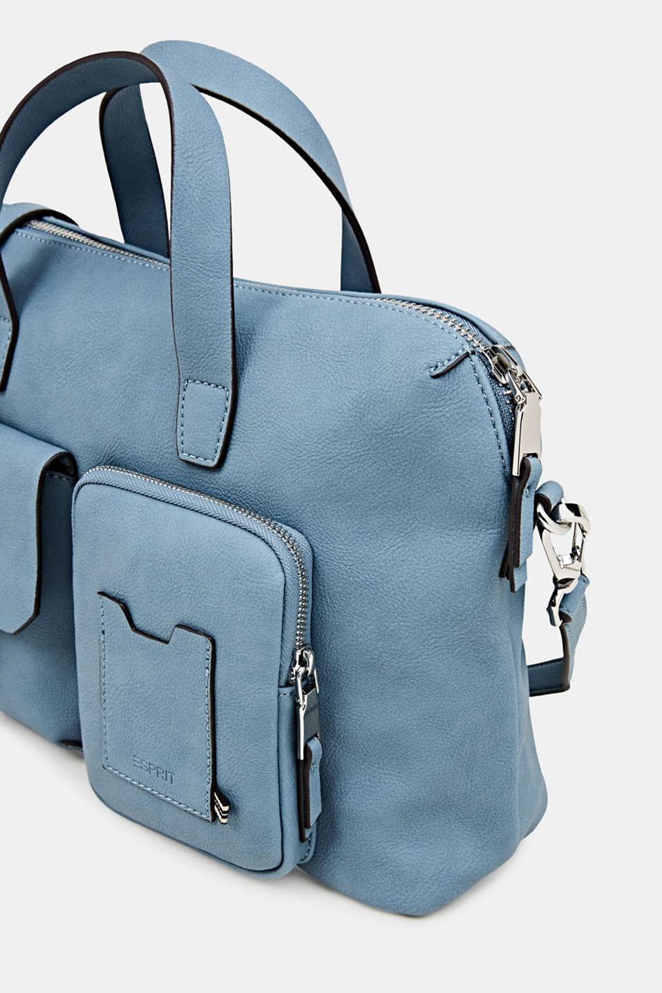 Faux leather handbag, LIGHT BLUE, detail image number 3
