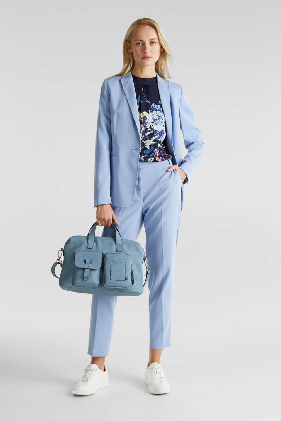 Faux leather handbag, LIGHT BLUE, detail image number 1
