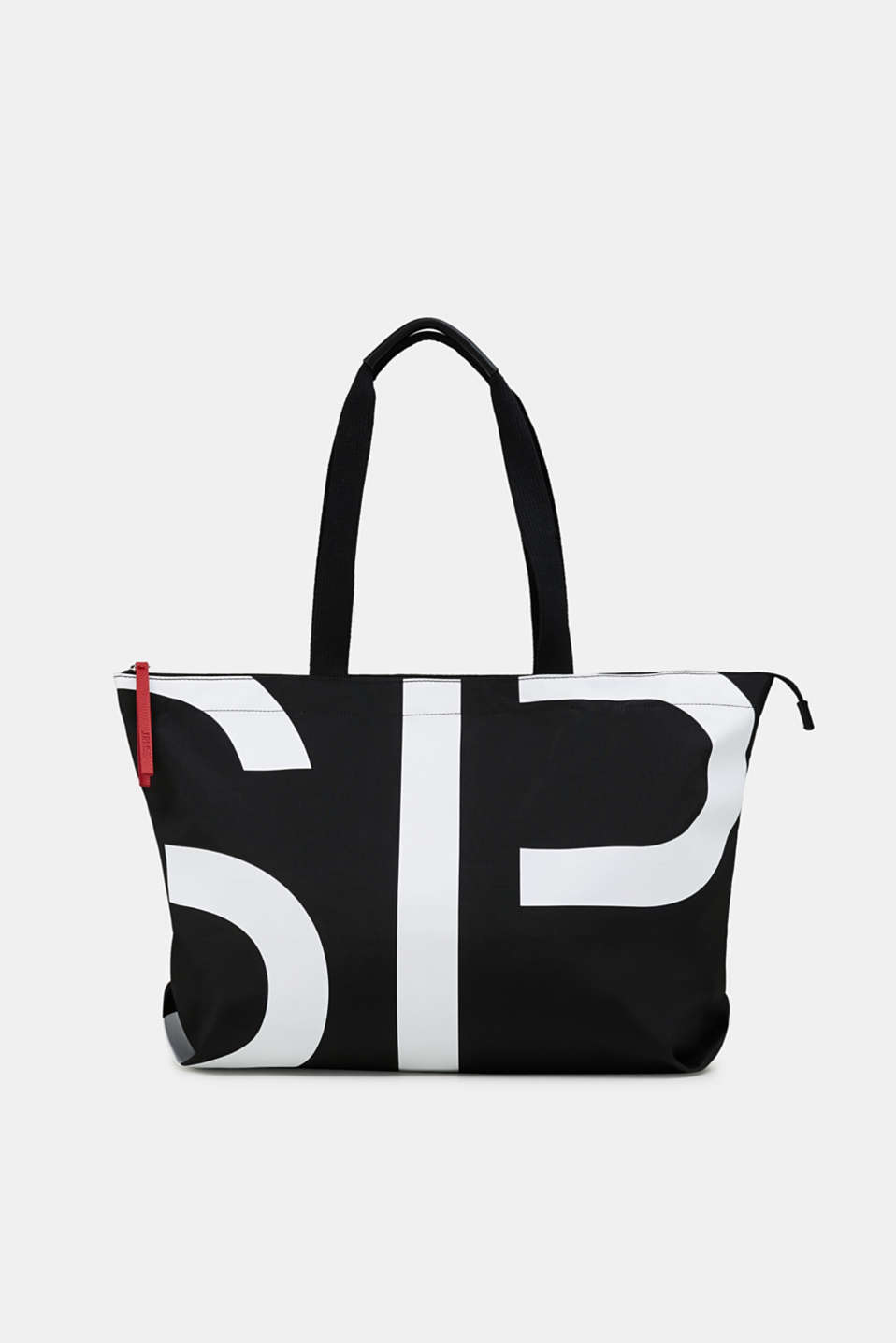 Esprit - Monogram-shopper i nylon