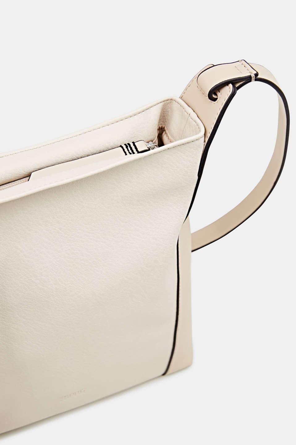 Mixed material shoulder bag, vegan, CREAM BEIGE, detail image number 3