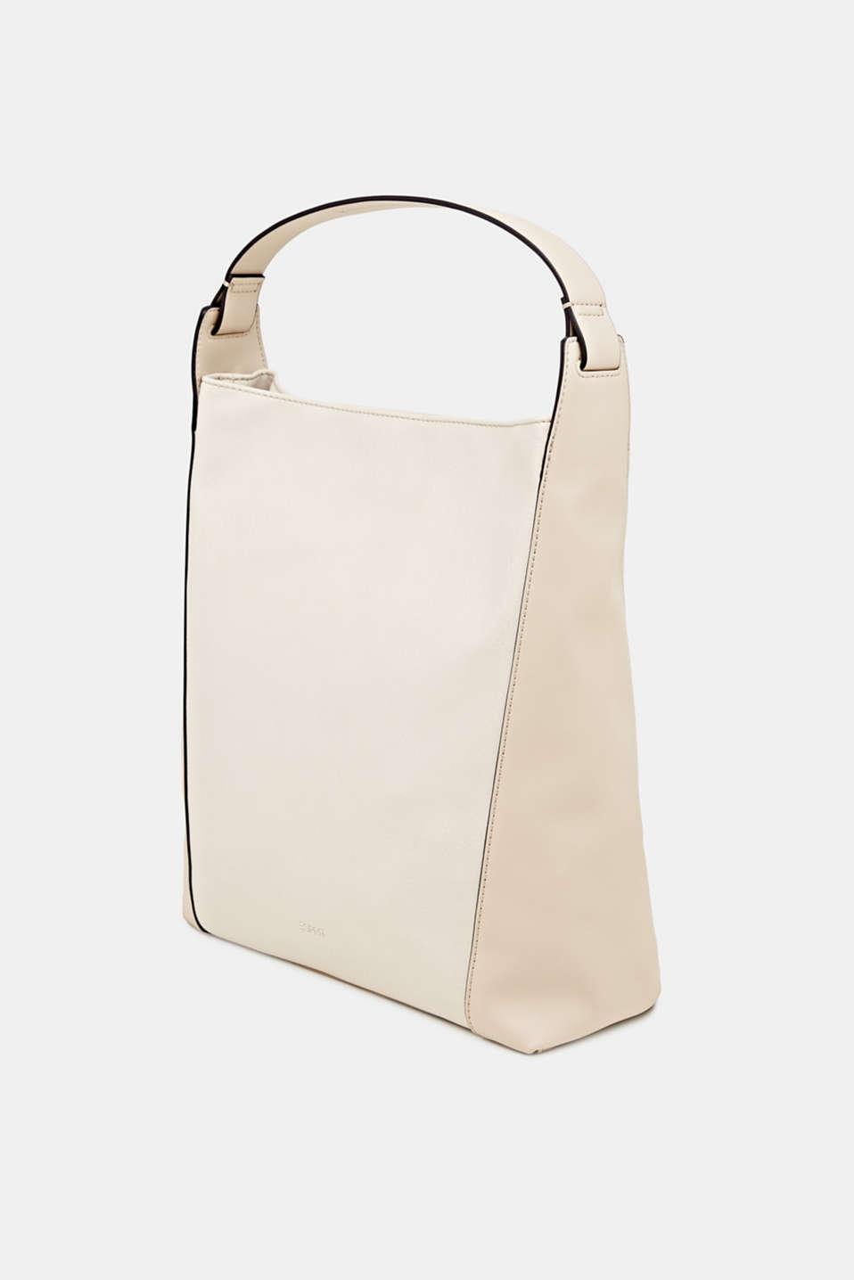 Material mix shoulder bag, vegan, CREAM BEIGE, detail image number 2