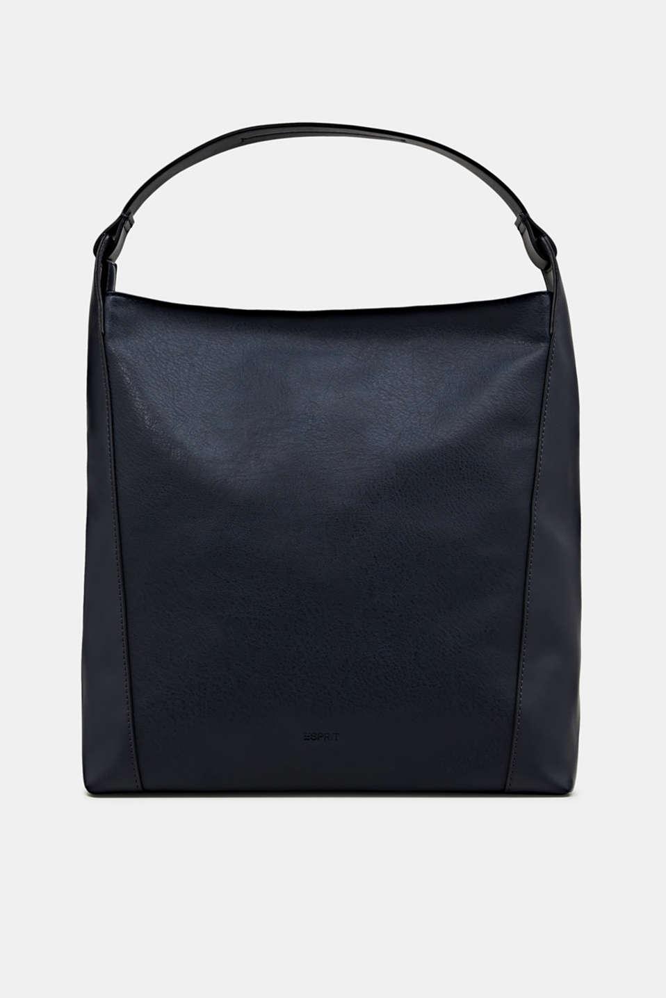 Material mix shoulder bag, vegan, NAVY, detail image number 0